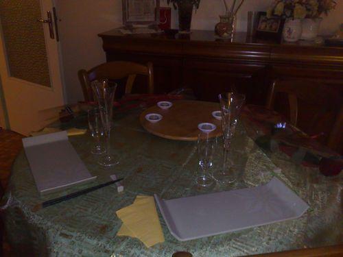 belle table pour une soirée romantique