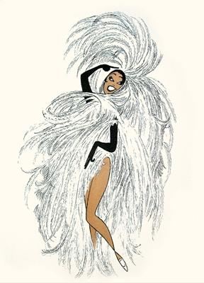 Josephine Baker par Al Hirschfeld